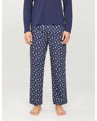 Polo Ralph Lauren Cotton Boat-print Pyjama Trousers - Blue