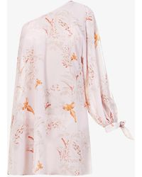 Ted Baker Floral-print Chiffon Cover-up - Pink