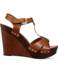 Carvela Kurt Geiger - Katey Leather Wedge Sandals - Lyst