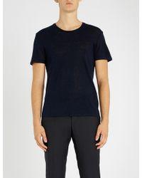 Sandro - Linen T-shirt - Lyst