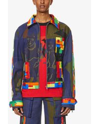 BETHANY WILLIAMS Waste Abstract-print Organic Cotton Jacket - Blue