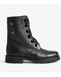 Zadig & Voltaire Joe Leather Ankle Boots - Black