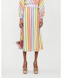 Olivia Rubin Penelope Striped Sequinned Skirt - Multicolour