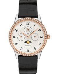 Montblanc - Bohème Perpetual Calendar Diamond And Rose-gold And Diamond Watch - Lyst
