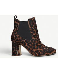 Kurt Geiger Raylan Leopard-print Pony Hair Ankle Boots - Brown
