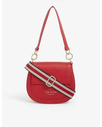 Ted Baker Amali Leather Cross-body Bag - Red