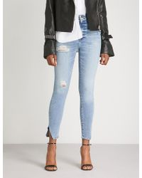 GOOD AMERICAN - Good Waist Frayed-hem Skinny Cropped High-rise Jeans - Lyst