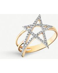 The Alkemistry - Kismet By Milka 14ct Rose-gold And Diamond Star Ring - Lyst