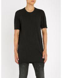 Boris Bidjan Saberi - Longline Cotton-jersey T-shirt - Lyst