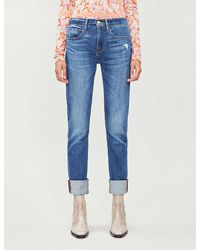 FRAME Tapered High-rise Jeans - Blue
