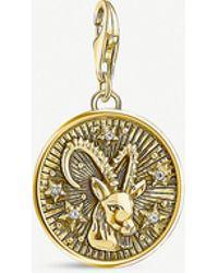 Thomas Sabo Capricorn Zodiac 18ct Yellow Gold-plated Charm