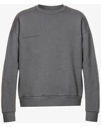 PANGAIA Text-print Recycled And Organic Cotton-blend Sweatshirt - Grey