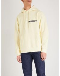CALVIN KLEIN 205W39NYC - Logo-embroidered Cotton-jersey Hoody - Lyst