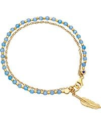 Astley Clarke - Biography Feather 18ct Yellow Gold-plated Sterling Silver Bracelet - Lyst