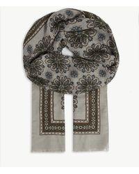 Eton of Sweden - Geometric Floral-printed Modal-blend Scarf - Lyst