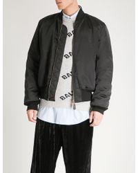 Balenciaga - Mens Noir Black Padded Shell Bomber Jacket - Lyst