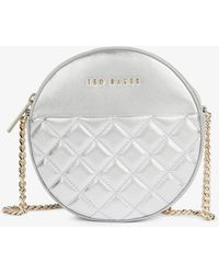 Ted Baker Cirus Small Quilted-leather Cross-body Bag - Metallic