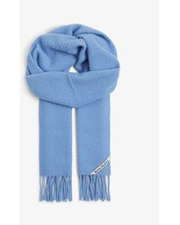 Acne Studios Canada New Wool Scarf - Blue