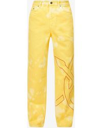Daily Paper Straight-leg Tie-dye Jeans - Yellow
