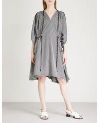 Limi Feu - Gathered Striped Cotton-blend Dress - Lyst
