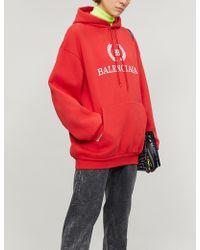 Balenciaga - Printed Cotton Hoodie - Lyst