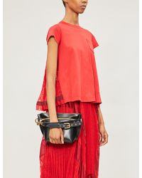 Sacai Contrast-back Cotton-oven Shirt - Red