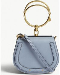 Chloé - Ladies Washed Blue Nile Leather Cross-body Bag - Lyst