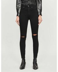 PAIGE Margot Skinny High-rise Jeans - Black