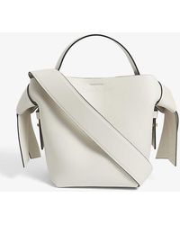 Acne Studios Musubi Mini Leather Cross-body Bag - White