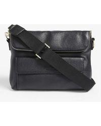 Whistles Vida Leather Cross-body Bag - Black