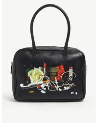 Dheygere Still Life Leather Top Handle Bag - Black