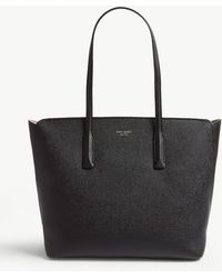 Kate Spade Margaux Grained Leather Tote Bag - Black