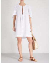 Three Graces London - Prudence Cotton-broderie Anglaise Dress - Lyst