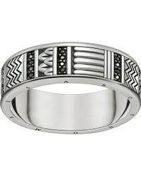 Thomas Sabo Nile Treasures Sterling Silver Filigree Ring - Metallic