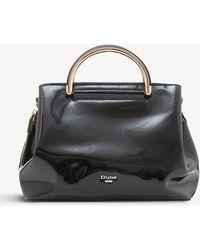 Dune - Black Patent Daandelion Handbag - Lyst