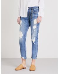 Tortoise - Savanna Distressed Relaxed Mid-rise Jeans - Lyst