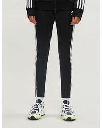 Trefoil Stretch jersey jogging Bottoms Black