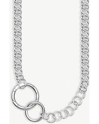 Thomas Sabo - Chunky Circle Sterling Silver Necklace - Lyst