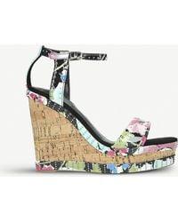 Carvela Kurt Geiger Kissmee Leather Wedge Heel Sandals - Multicolor