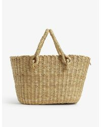 Muuñ Micro Claudia Straw Bag With Pouch - Multicolour