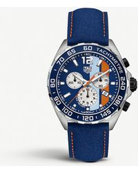 Tag Heuer Caz101n.fc8243 Formula 1 Aluminium And Stainless Steel Tachymeter Watch - Blue