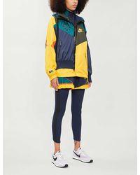 Nike Drawstring-hood Contrast-panel Shell Jacket - Multicolor