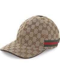 Gucci - GG Web Stripe Baseball Cap - Lyst