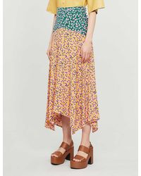 TOPSHOP Tallmixed Floral Print Skirt - Multicolor