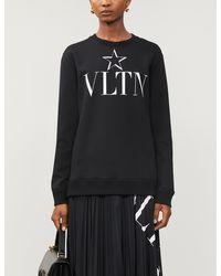Valentino Cotton-blend Sweatshirt - Black
