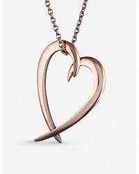 Shaun Leane Heart Rose Gold-vermeil Pendant Necklace - Metallic