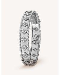 Van Cleef & Arpels - Perlée Clovers Gold And Diamond Bracelet - Lyst