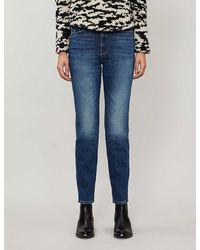 FRAME Le Sylvie Faded Straight-leg High-rise Jeans - Blue
