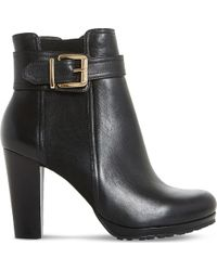 Dune - Black 'orine' Buckle Strap Heeled Ankle Boots - Lyst