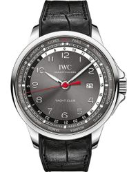 Iwc - Iw326602 Portugeiser Stainless Steel Automatic Leather Strap Watch - Lyst